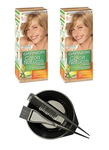 Garnier Garnier 2 Adet Color Naturals Saç Boyası 8 + Saç Boyama Seti Renksiz
